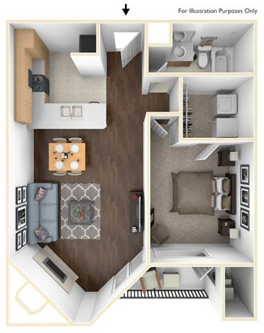 Floor Plan  1X1A