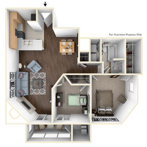 Floor Plan  2X1B