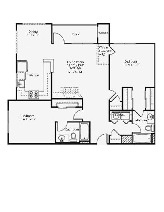Floor Plan  2h2 Highland