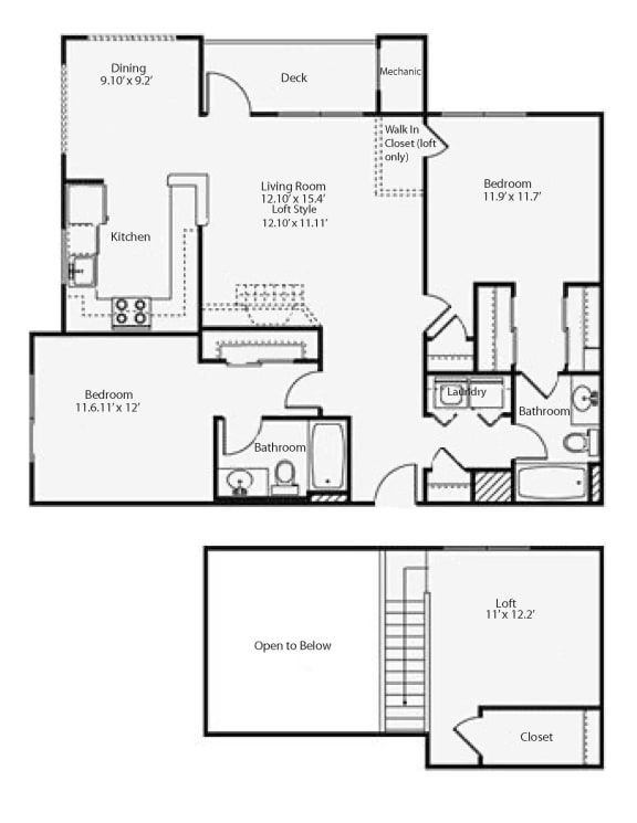 Floor Plan  2hL Highland Loft