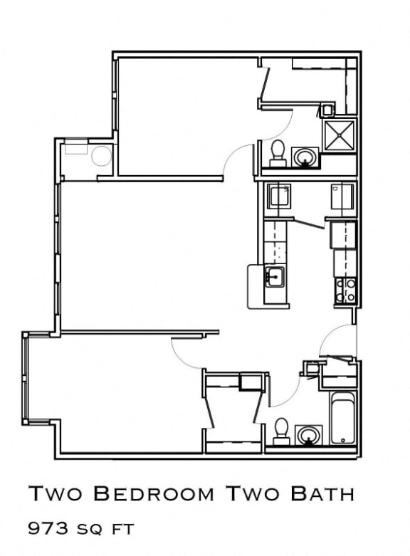 The Commons at Union Point Two Bed Apartment