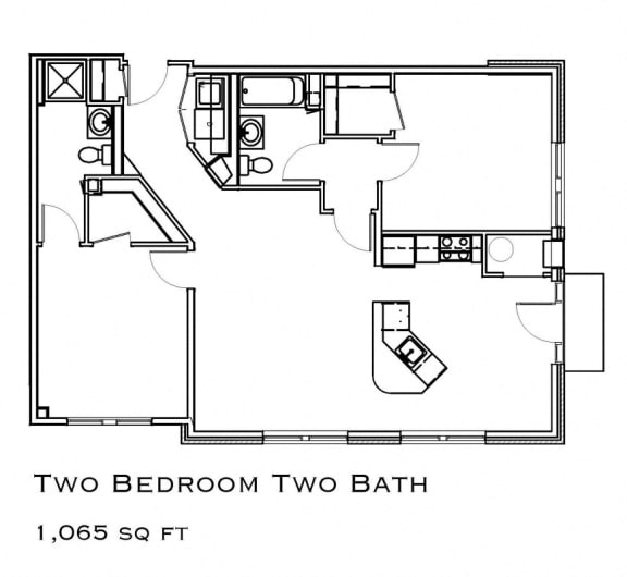 The Commons Kitchen Island Two Bedroom