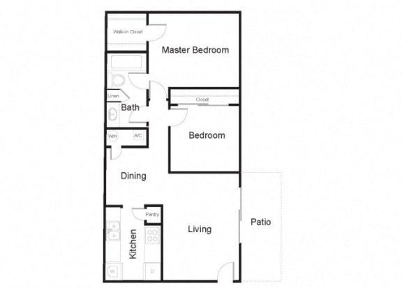 Floor Plan  the ficus two bedroom floorplan