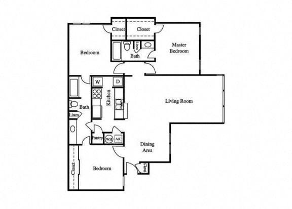 Floor Plan  the tulip floorplan layout at greenhouse apartments