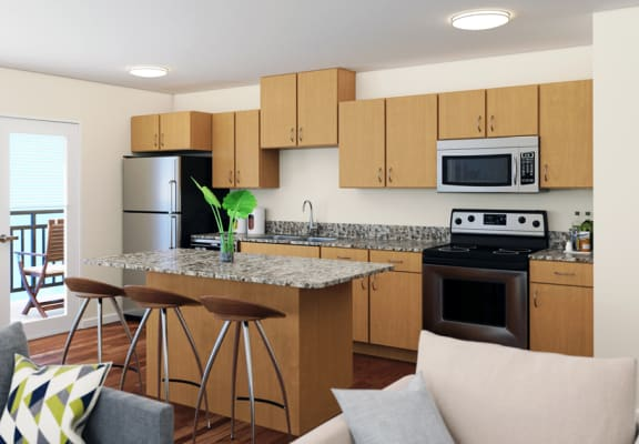 Preserve at Peachtree Shoals_Staged 3 Bedroom KItchen