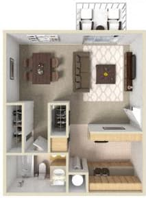 Floor Plan  Westwood Village | Apartments | Floorplan | Studio