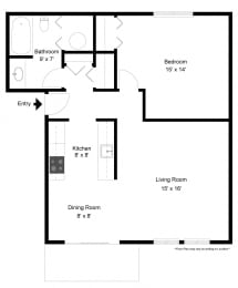 One Bedroom Apartment at Long Pond Shores Waterfront Apartments, Rochester, NY