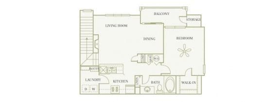 The Gardens at Polaris - Azalea (no garage) - 1 bedroom - 1 bathroom