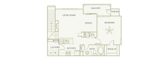 The Gardens at Polaris - Azalea (with garage) - 1 bedroom - 1 bathroom