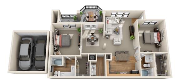 Floor Plan  Deerwood, B1