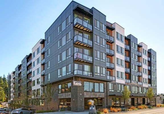 Geo Apartments Building Exterior and Street Corner