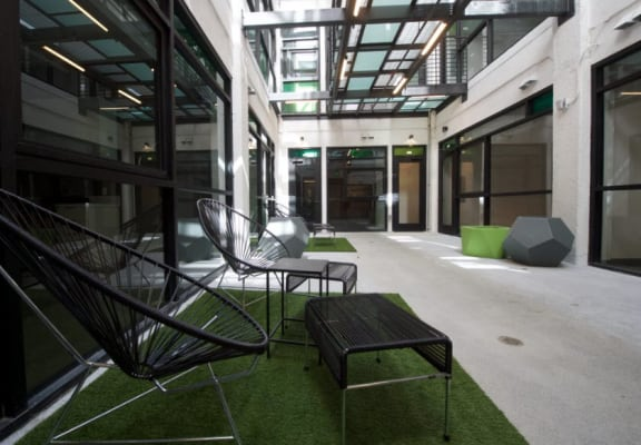 Broadway Lofts Interior Courtyard