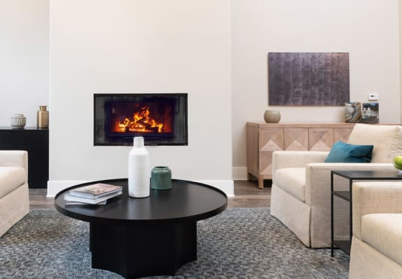 Lounge Area With Fireplace at Missions at Chino Hills, Chino Hills