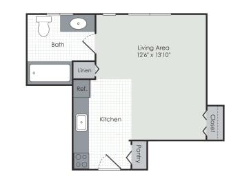 Floor Plan  Studio apartment floor plan layout