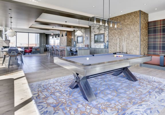 Legacy West End Apartments Clubhouse and Pool Table