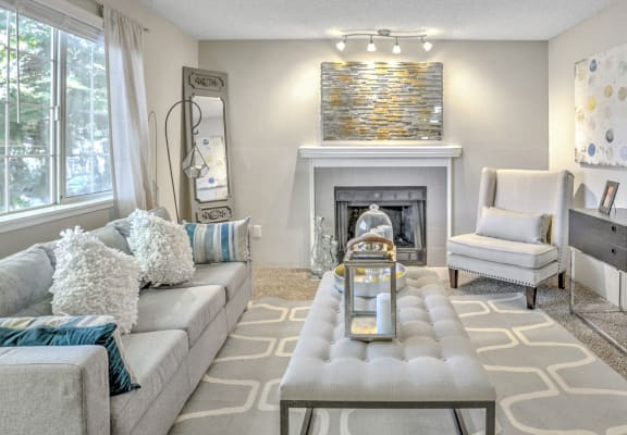The Windsor Apartments Model Living Room