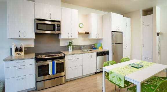 3150 D Street Village Apartments Kitchen