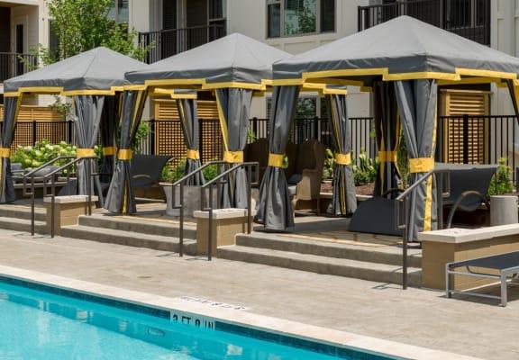Poolside Lounge Area at Berkshire Main Street, North Carolina