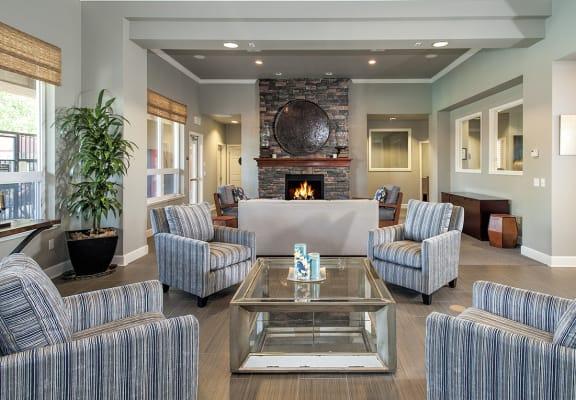 Stoneridge Clubhouse Seating Area & Fireplace