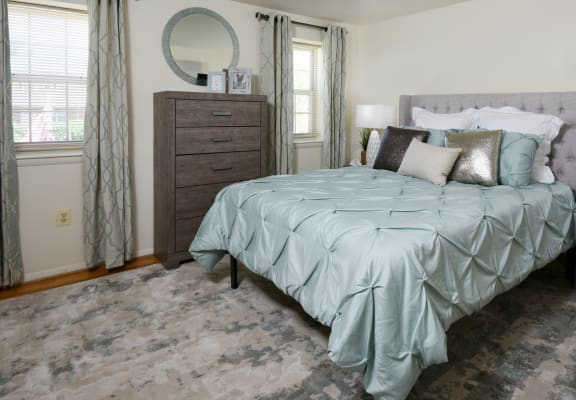Large master bedroom at Kingston Townhomes with huge closets