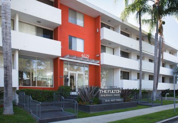 Community exterior at The Fulton Sherman Oaks in Sherman Oaks, CA 91423