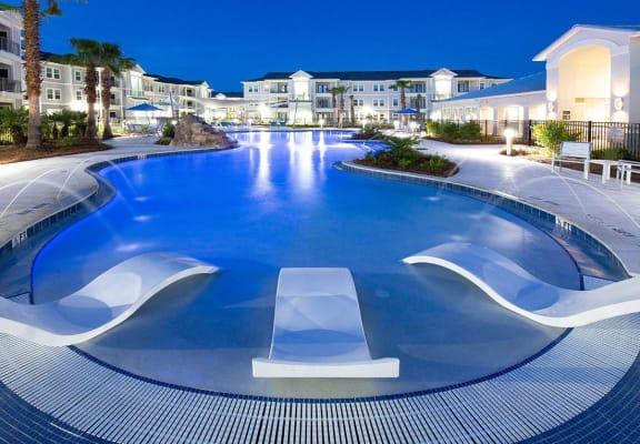 Resort-style Swimming Pool Night View