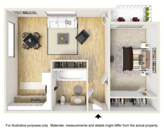 Floor Plan  Connery Place | One Bedroom Floor Plan
