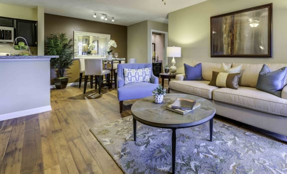 living room with wood-style flooring