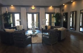 Apartments for Rent in Roseville CA-The Phoenician Apartments Clubhouse With Plush Seating And Modern Furnishings
