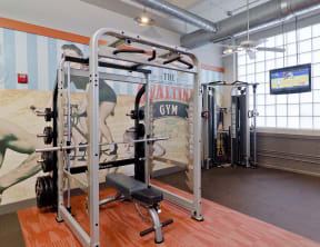 Several workout options in the fitness center