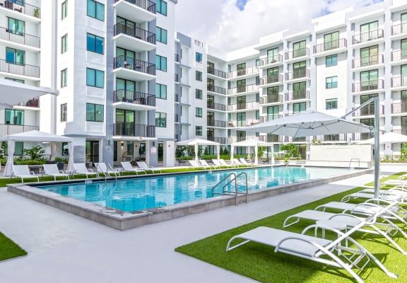 Poolside View | Twenty2 West | Luxurious Apartments in Miami, FL