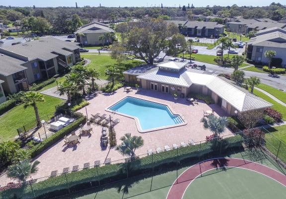 Ariel View of the 30 West Pool and Sundeck