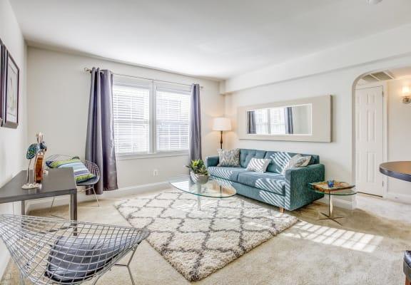 Living room in Model Apartment at Myerton, Arlington, VA