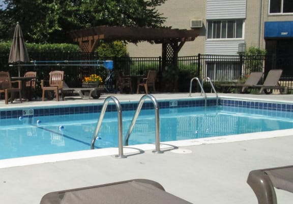 Lounging by the Pool at The Birches Apartments, Illinois, 60435