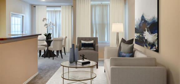 Rosemont at Baytown Apartments Model Living Room