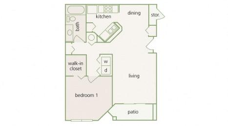 Park Del Mar - A2 - Monet - 1 bedroom - 1 bathroom