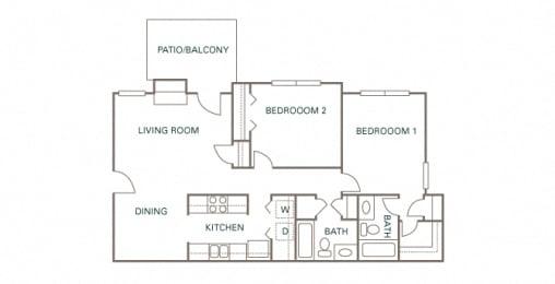 Littlestone of Village Green - The Stratford - 2 bedroom - 2 bath