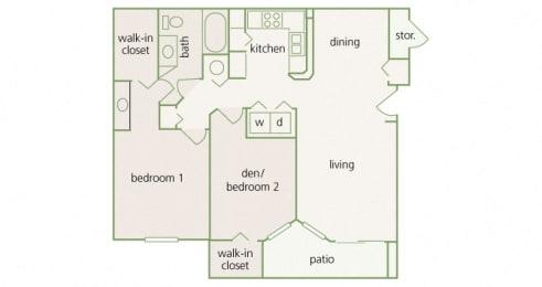 Park Del Mar - B1 - Bellini - 2 bedroom - 1 bathroom