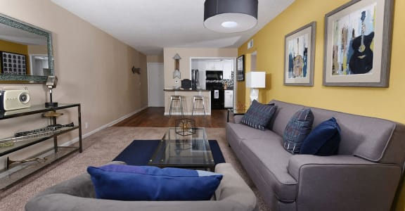 Music City Flats Living Room