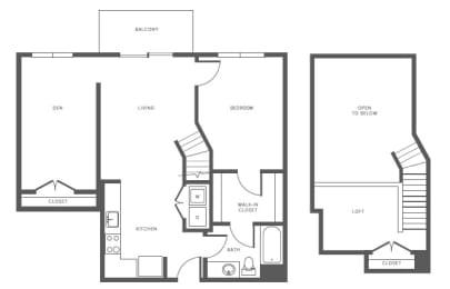 Floor Plan  A6(1) floor plan at Windsor at Hopkinton, Massachusetts, 01748