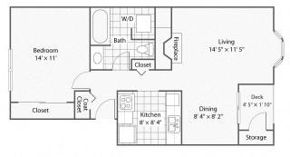 1 Bedroom_1 Bathroom_Cambridge   Windsor Apartments For Rent in Renton, WA 98059