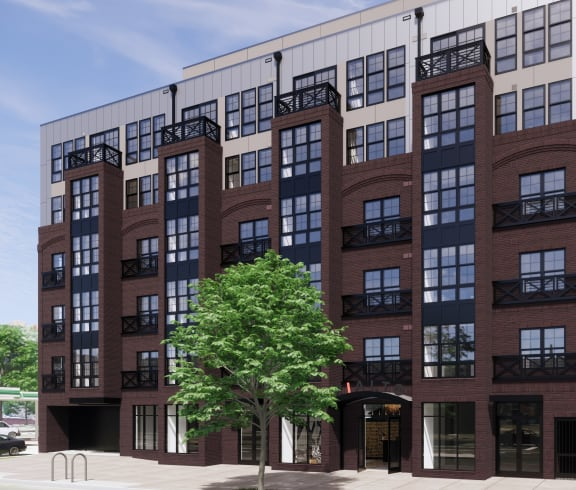 Rialto Apartments Building Exterior Rendering