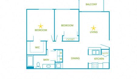 La Costa - B1 - Capri - 2 bedroom - 2 bath