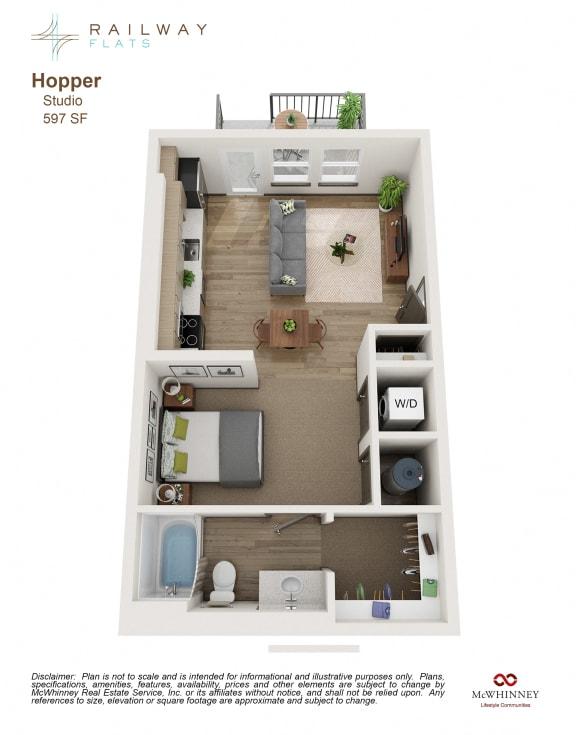 Floor Plan  Hopper Floor Plan - Studio
