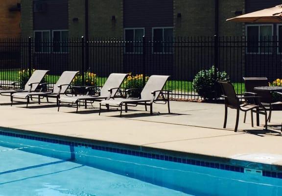 Pool at Park Village Apartments, Madison, WI, 53713