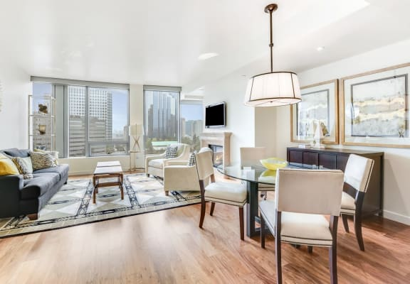 Open layout apartment at The Bravern, WA, 98004