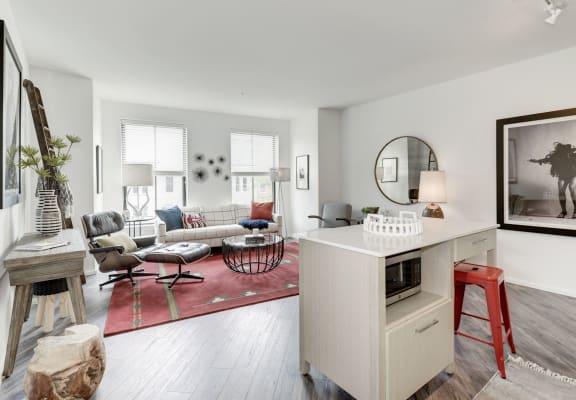 Modern Living Room at Reed Row, Washington