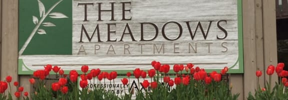 Monument Signage at The Meadows Apartments, Madison, Wisconsin