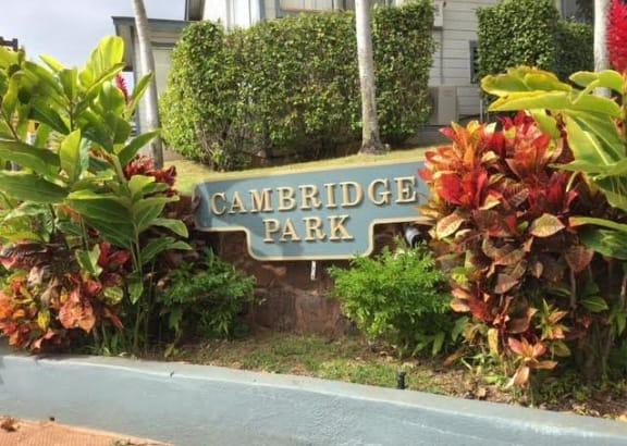 Cambridge Park Apartments signage