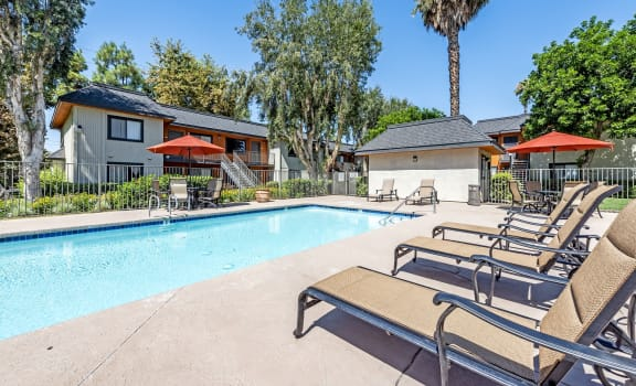 Refreshing Pool at Riverwalk Apartments, Riverside, California